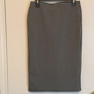 NWOT Old Navy Grid Print Midi Skirt Small